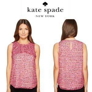 Kate Spade NWT Pink Silk Sleeveless Blouse M